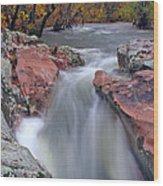 Above The Castor River Shut Ins II Wood Print