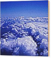 Above The Clouds Abstract Wood Print