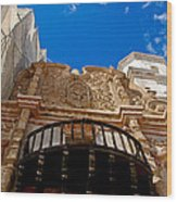 Above The Front Entry San Xavier Mission Wood Print