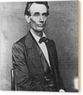 Abraham Lincoln 1860portrait By B Wood Print by Everett