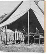 Abraham Lincoln Meeting With General Mcclellan - Antietam - October 3 1862 Wood Print