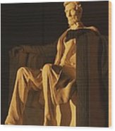 Abraham Lincoln Statue In Lincoln Wood Print