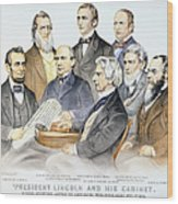 Abraham Lincolns Cabinet Wood Print by Granger