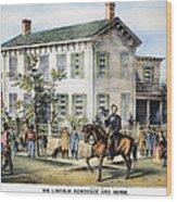 Abraham Lincolns Home Wood Print