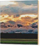 Absaroka Sunset Wood Print