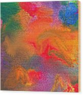Abstract - Crayon - Melody Wood Print