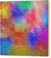 Abstract - Ripples Wood Print by Steve Ohlsen