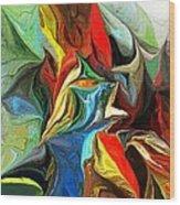 Abstract 021712 Wood Print