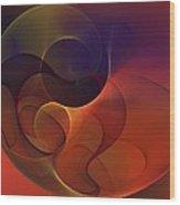 Abstract 102611c Wood Print