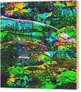 Abstract 241 Wood Print