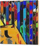 Abstract 26 Wood Print