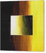 Abstract 3d Golden Square Wood Print