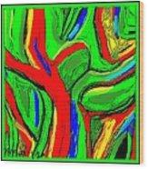 Abstract 421 Wood Print