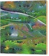 Abstract 52 Wood Print