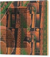Abstract 702 Wood Print