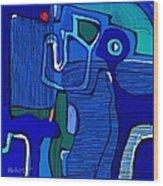 Abstract 791 Wood Print