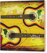 Abstract Acoustic Wood Print