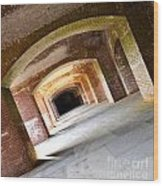 Abstract Archways Fort Point Wood Print