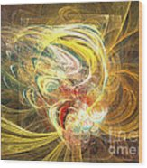 Abstract Art - In Full Bloom Wood Print