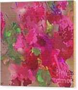 Abstract Bougainvillea Painting Floral Wall Art Wood Print
