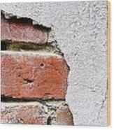 Abstract Brick Wall II Wood Print