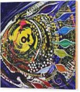 Abstract Busy Bee Fish Wood Print