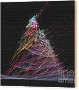Abstract Christmas Tree 1 Wood Print