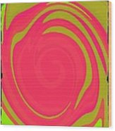 Abstract Color Merge Wood Print