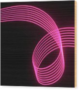 Abstract Colored Light Trails With Parallel Lines Wood Print