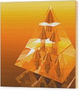 Abstract Computer Artwork Of A Pyramid Of Arrows Wood Print
