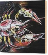 Abstract Crawfish Wood Print