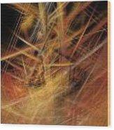 Abstract Crisscross Wood Print