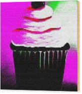 Abstract Cupcakes By Shawna Erback Wood Print