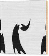 Abstract Dance Wood Print