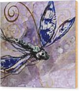 Abstract Dragonfly 9 Wood Print