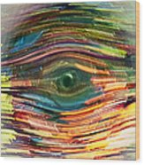 Abstract Eye Wood Print