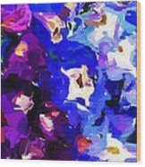 Abstract Floral 031112 Wood Print