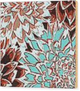 Abstract Flower 17 Wood Print