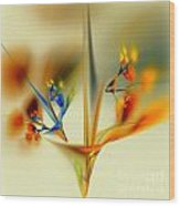 Abstract Flower 2 Wood Print