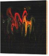 Abstract Fractals Melting 2 Wood Print