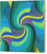 Abstract Fusion 108 Wood Print