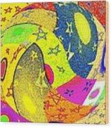 Abstract Fusion 110 Wood Print