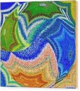Abstract Fusion 155 Wood Print