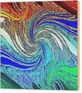 Abstract Fusion 159 Wood Print