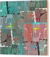 Abstract Fusion 39 Wood Print