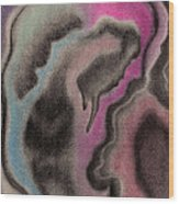 Abstract Geode 2 Wood Print by Christine Perry