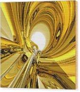 Abstract Gold Rings Wood Print