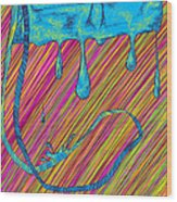 Abstract Handbag Drips Color Wood Print by Kenal Louis