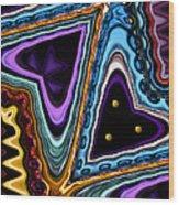 Abstract Hearts Wood Print