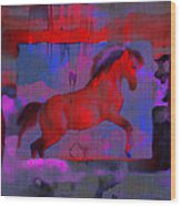 Abstract Horse Wood Print